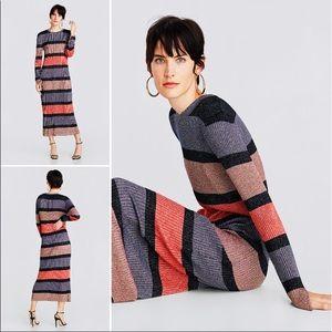 Gorgeous NWT Zara Knit Shimmer Sweater Dress